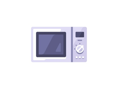 Microwave cooking kitchen oven microwave daily icon illustration vector design flat