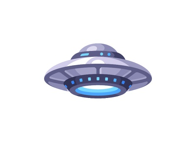 UFO alien ufology paranormal spaceship space ufo daily icon illustration vector design flat