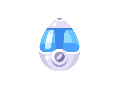 Humidifier aromatherapy purifier humidifier air daily icon illustration vector design flat