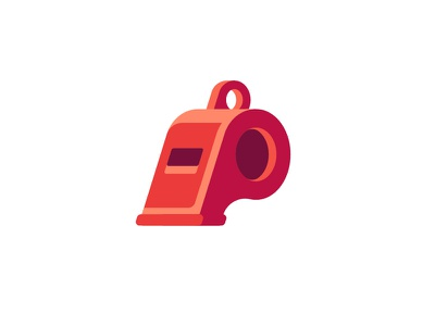Whistle referee whistle daily icon illustration vector design flat