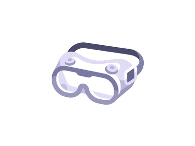 Goggles virus protection face glasses medical goggles daily icon illustration vector design flat