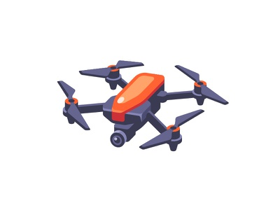 Drone photography aerial delivery drone quadcopter daily icon illustration vector design flat