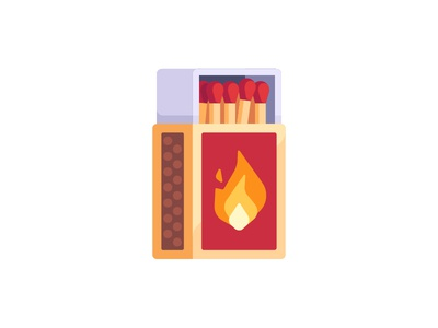 Matches flat box match safety daily icon illustration vector design