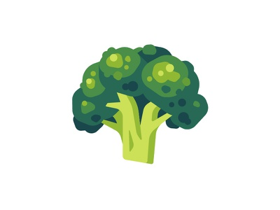 Broccoli flat vegetarian vegan food broccoli daily icon illustration vector design