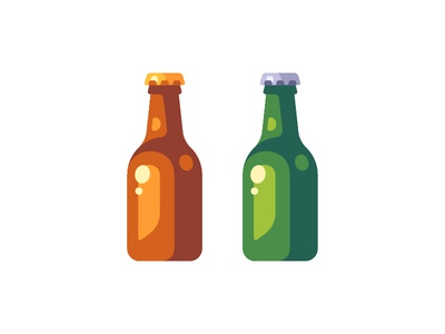 Beer icon illustration bottle beer daily vector design flat
