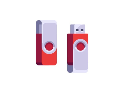 Flash drive icon illustration usb drive flash daily vector design flat