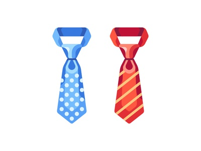 Ties illustration icon necktie tie daily vector design flat