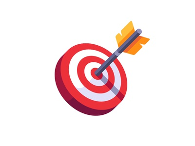 Target darts archery goal target arrow daily icon illustration vector design flat