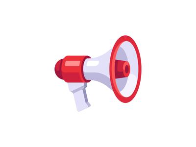 Megaphone loud speaker megaphone daily icon illustration vector design flat