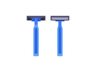 Shaving razor shaver shaving razor daily icon illustration vector design flat