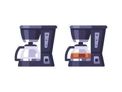 Coffee maker machine coffee maker daily icon illustration vector design flat