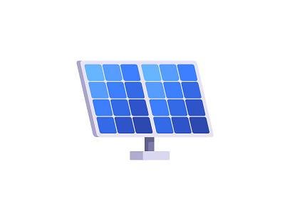 Solar panels electricity saving farm energy panel solar daily icon illustration vector design flat