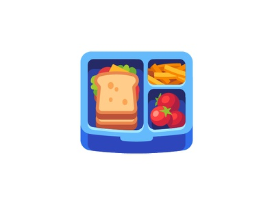 Lunchbox sandwich food lunchbox lunch daily icon illustration vector flat design