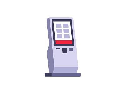 Kiosk terminal kiosk daily icon illustration vector flat design