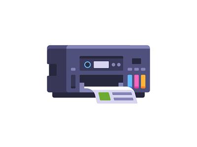 Printer office copier printing printer daily icon illustration vector flat design