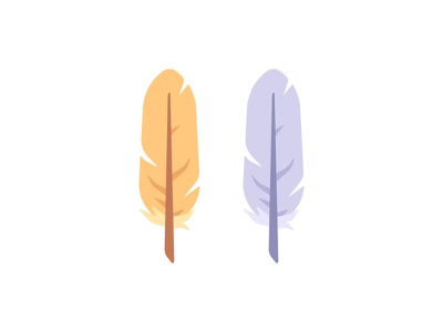 Feathers feather bird daily icon illustration vector flat design