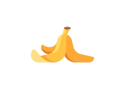 Banana peel banana peel daily icon illustration vector flat design