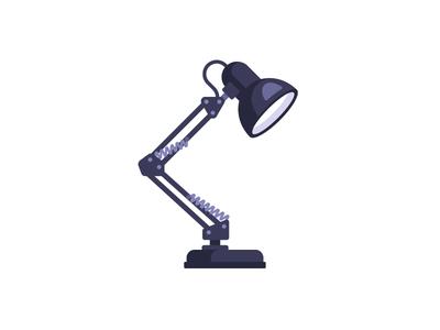Desk lamp table desk lamp daily illustration vector flat design