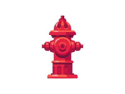 Fire hydrant fire hydrant daily icon illustration vector design flat