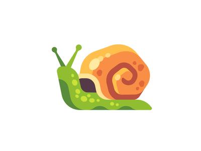 Snail snail daily icon illustration vector design flat