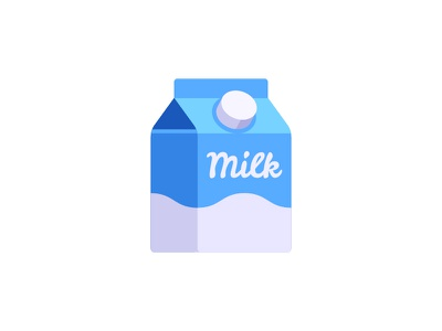Milk milk carton daily icon illustration vector design flat