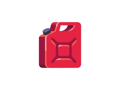 Gas can jerrycan gas can daily icon illustration vector design flat