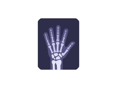 X-ray medical x-ray daily icon illustration vector design flat