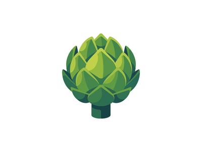 Artichoke artichoke daily icon illustration vector design flat