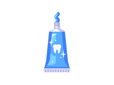 Toothpaste toothpaste tube daily icon illustration vector design flat