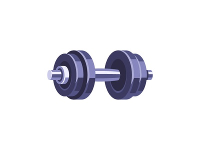 Dumbbell workout gym barbell dumbbell daily icon illustration vector design flat