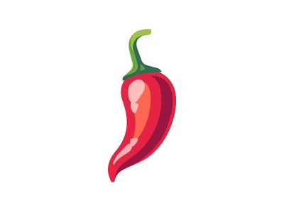 Chili pepper red hot chili pepper daily icon illustration vector design flat