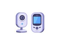 Baby monitor camera baby monitor daily icon illustration vector design flat
