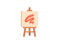 Easel painting easel daily icon illustration vector design flat