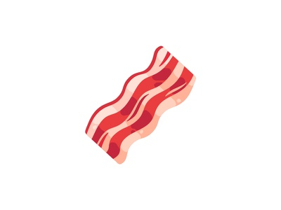 Bacon food meat bacon daily icon illustration vector design flat