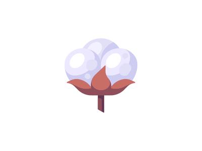 Cotton cotton daily icon illustration vector design flat