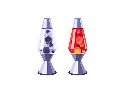 Lava lamp lava lamp daily icon illustration vector design flat