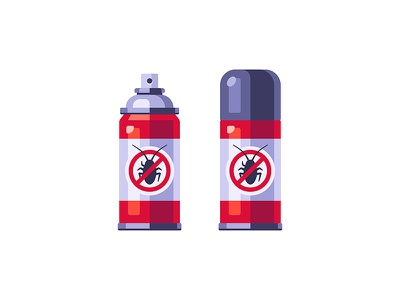 Insecticide spray cockroach insecticide daily icon illustration vector design flat