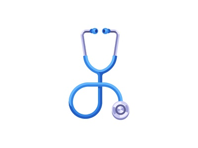 Stethoscope medical stethoscope daily icon illustration vector design flat