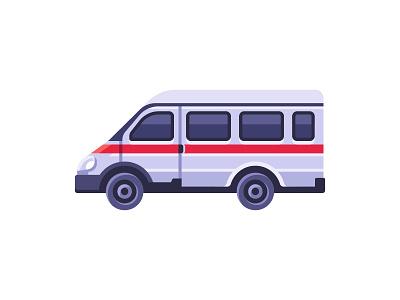 Ambulance car ambulance daily icon illustration vector design flat