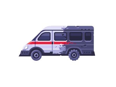 Ambulance? ambulance daily icon illustration vector design flat
