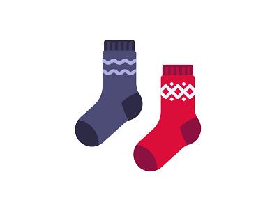 Socks socks daily icon illustration vector design flat