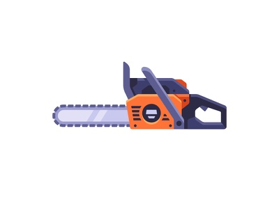 Chainsaw chainsaw saw daily icon illustration vector design flat