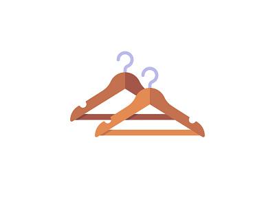 Hangers hanger daily icon illustration vector design flat