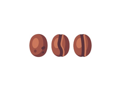 Coffee beans coffee beans daily icon illustration vector design flat