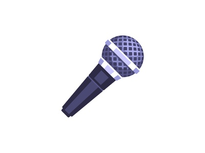 Microphone nicrophone daily icon illustration vector design flat