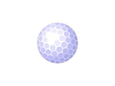 Golf ball golf ball daily icon illustration vector design flat
