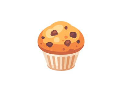 Muffin muffin daily icon illustration vector design flat