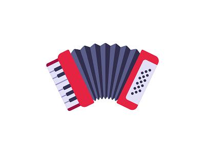 Accordion accordion daily icon illustration vector design flat