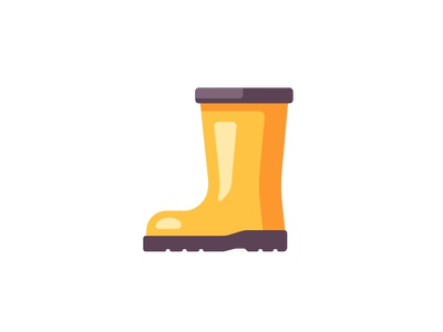 Rain boot rain boot daily icon illustration vector design flat