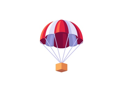 Parachute parachute daily icon illustration vector design flat